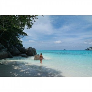 White sand and clear blue water So beautiful! similan similanislandshellip