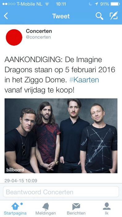 Imagine dragons ziggo dome nederland amsterdam
