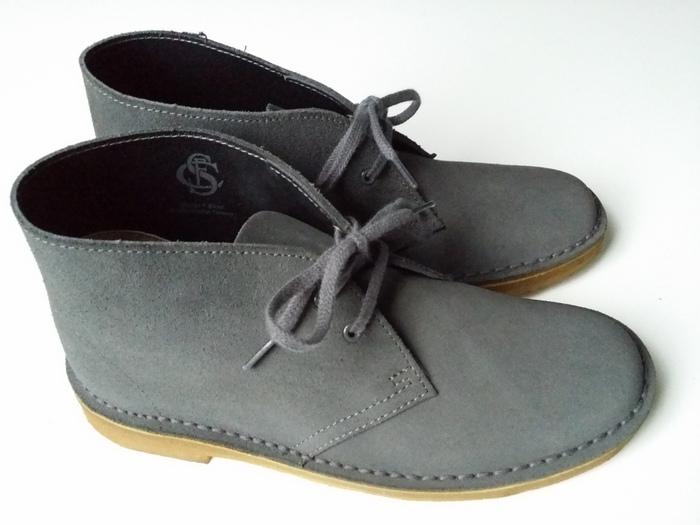 Clarks desert boots grey grijs