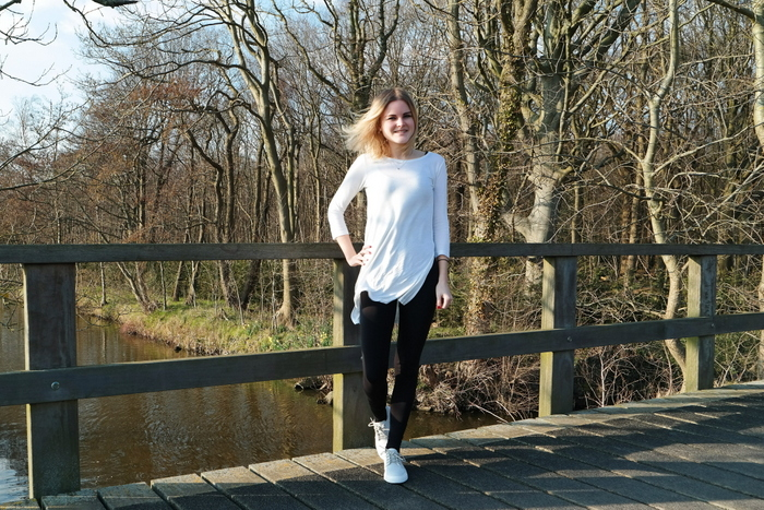 outfit blog nike janoski light bone pull&bear