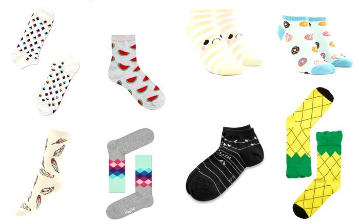 vrolijke, gekke, leuke sokken