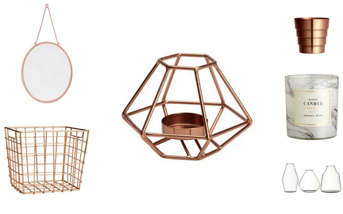 H&M home rose goud koper