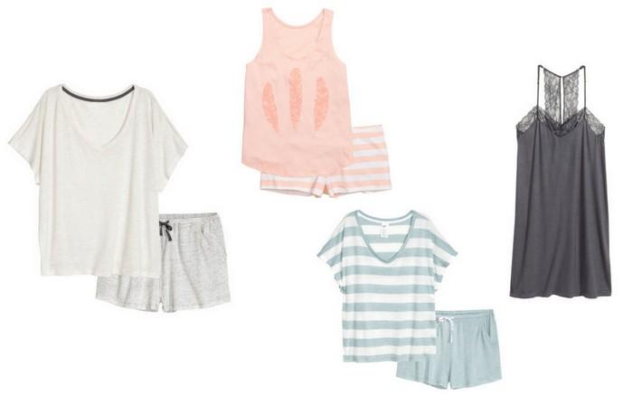 zomer pyjama's h&m
