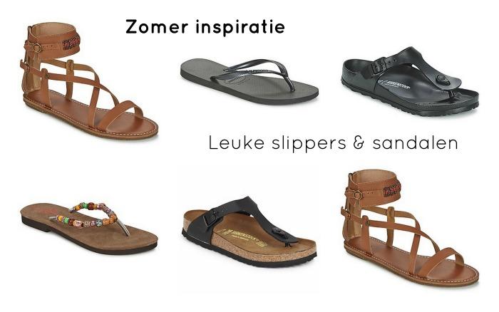 zomer inspiratie leuke slippers en sandalen