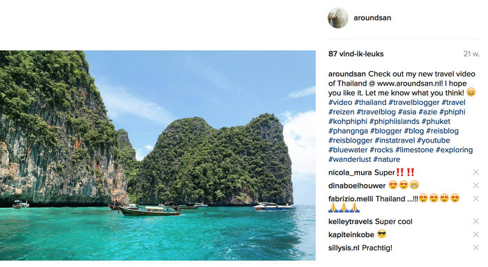 instagram koh phi phi thailand