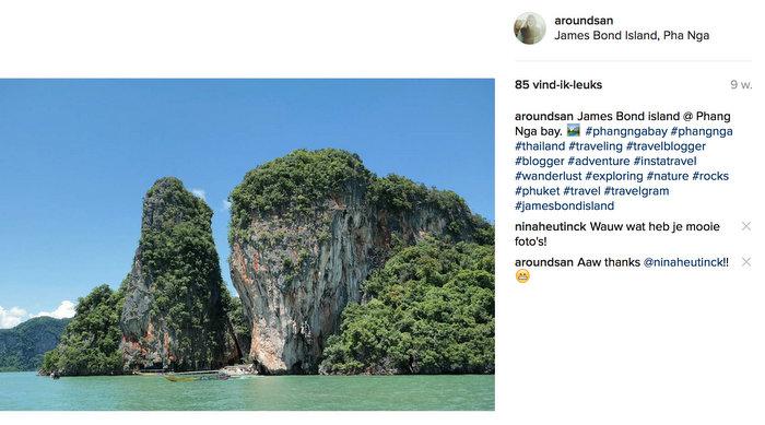 instagram thailand phang nga bay james bond island