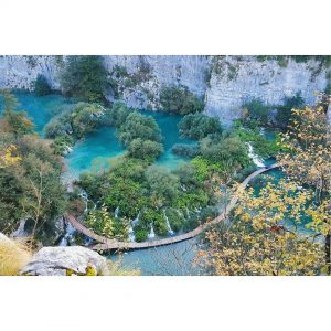 The Plitvice lakes from above its a little paradise onhellip