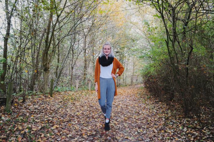 pantalon cluse horloge pumpkin spice vest outfit aroundsan