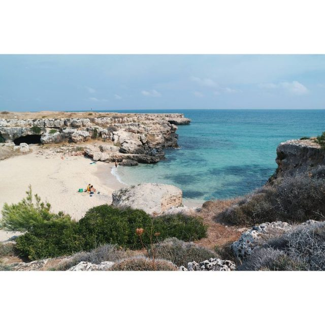 The sea beach rocks What a lovely place! monopoli italyhellip