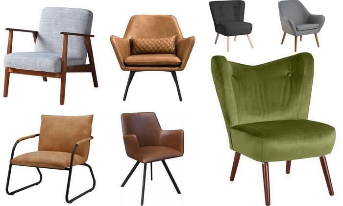 20x Scandinavische & industriële fauteuils