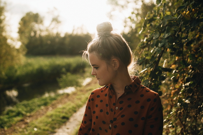 Outfit | Een herfstig polkadot jurkje