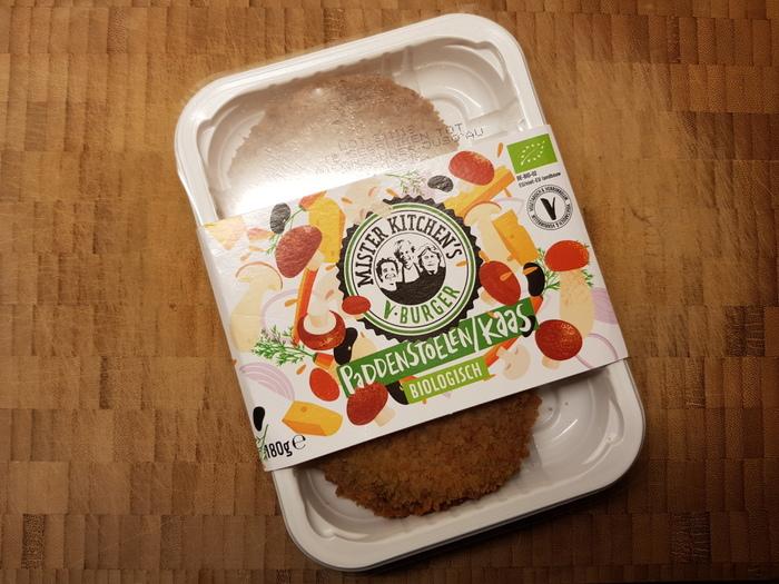Review | Mister Kitchen's V-Burger Paddenstoelen/kaas