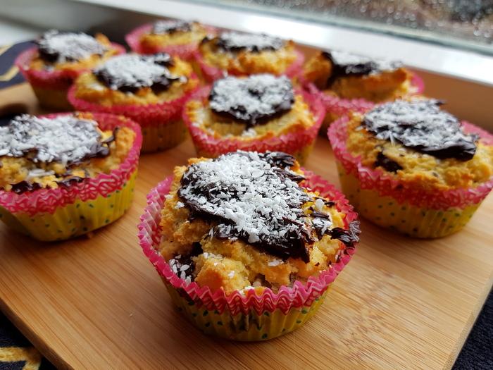 Recept | Chocolade kokos muffins (fructose-arm, glutenvrij & lactosevrij)