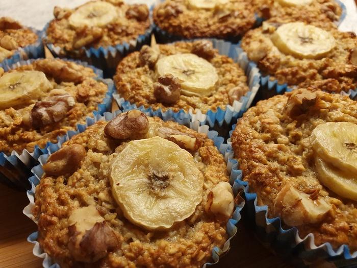 Recept | Gezonde havermout/banaan muffins