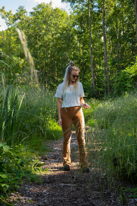 Outfit | Corduroy flared in het bos (+ natuurfoto's!)