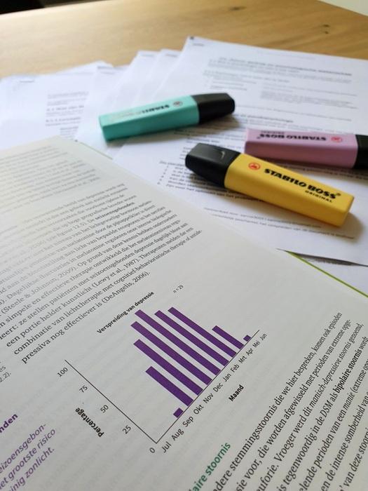 Ik ben weer verder gegaan met mijn studie!