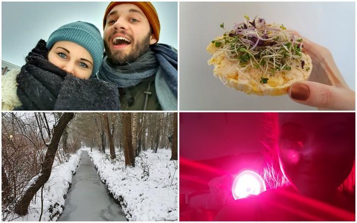 Photo Diary #274 & #275 | 'Kamperen', sneeuw & infrarood lamp